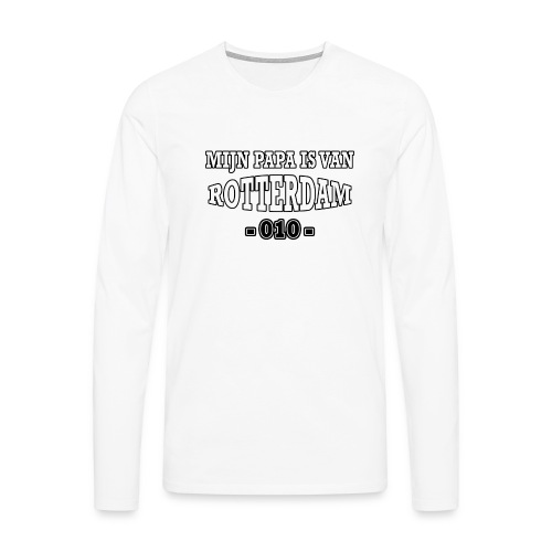 mijn papa Rotterdam - Mannen Premium shirt met lange mouwen