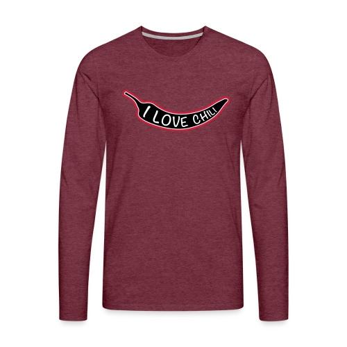 I love chili - Miesten premium pitkähihainen t-paita