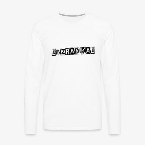 Linzradikal schwarz - Männer Premium Langarmshirt