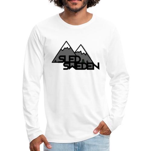 SledSweden Official Logo - Långärmad premium-T-shirt herr