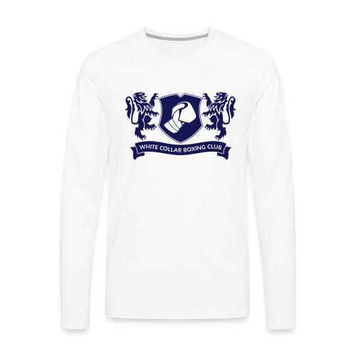 White Collar Boxing Hoodie Classic-Blue - Männer Premium Langarmshirt