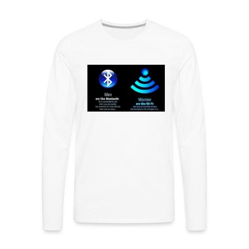 WIFI - Mannen Premium shirt met lange mouwen