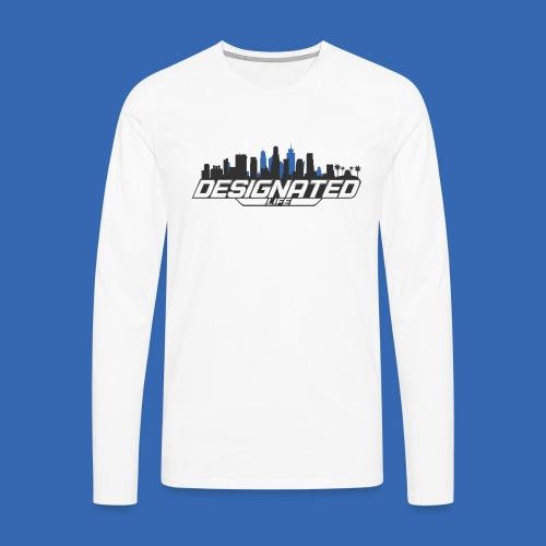 Designated Black - Männer Premium Langarmshirt