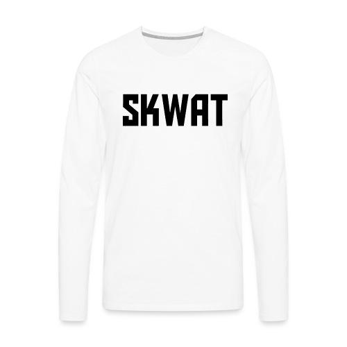 BLACK DESIGN - Mannen Premium shirt met lange mouwen