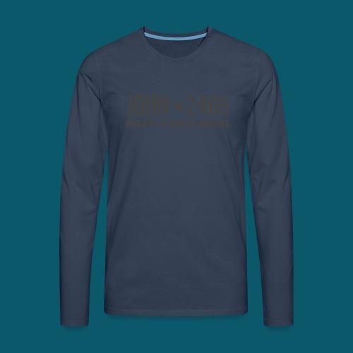 JOHN2469 prova per spread - Maglietta Premium a manica lunga da uomo