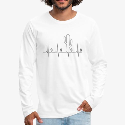 Kaktusowy puls - Koszulka męska Premium z długim rękawem