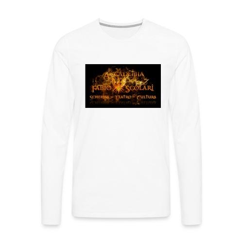 Accademia_Fabio_scolari_nero-png - Maglietta Premium a manica lunga da uomo