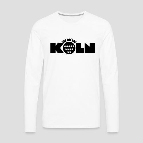 Köln Wappen modern - Männer Premium Langarmshirt