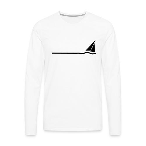 Regatta 3 (monochrom) - Männer Premium Langarmshirt