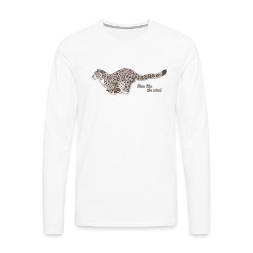 Snow Leopard: Run Like the Wind - Koszulka męska Premium z długim rękawem