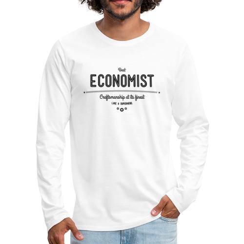 Bester Ökonom - wie ein Superheld - Männer Premium Langarmshirt