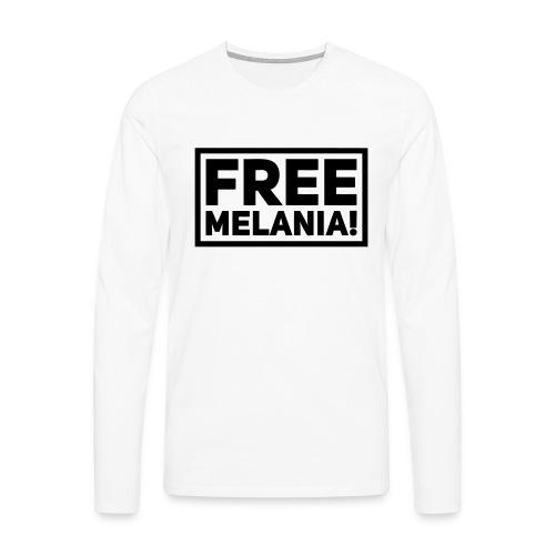 free melania! - Männer Premium Langarmshirt