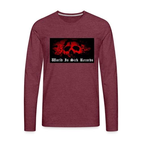 World Is Sick Skull Huppari - Miesten premium pitkähihainen t-paita