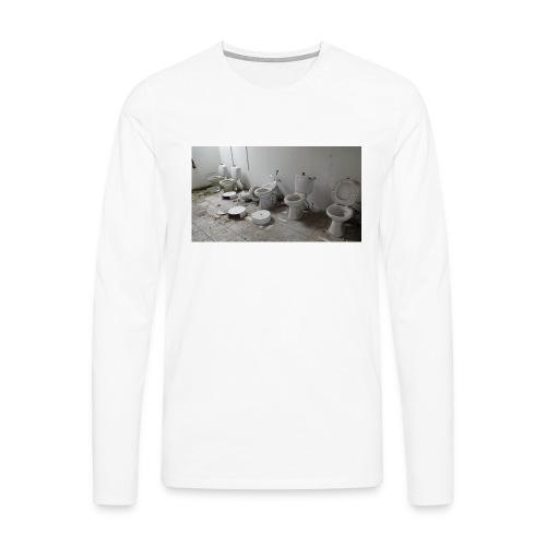 Toilets - Herre premium T-shirt med lange ærmer