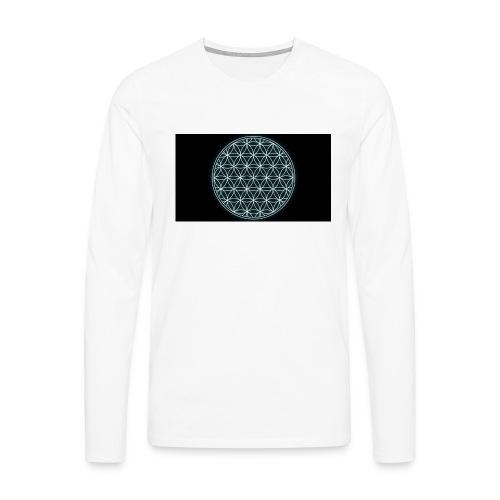 flower of life - Mannen Premium shirt met lange mouwen