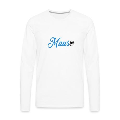 Hoesje MAUS 8Bit Blauw - Mannen Premium shirt met lange mouwen