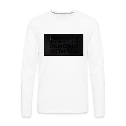 test dancing - Koszulka męska Premium z długim rękawem