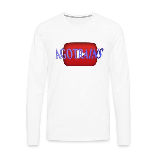 AGOTRAINS - Maglietta Premium a manica lunga da uomo