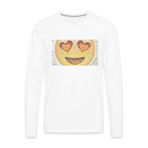 Emoij Hoesje - Mannen Premium shirt met lange mouwen
