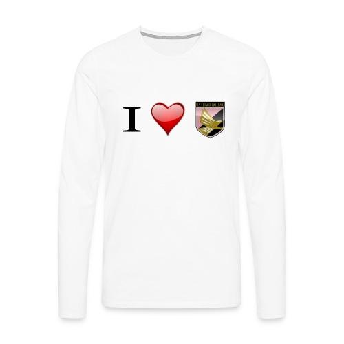 I Love Palermo - Maglietta Premium a manica lunga da uomo