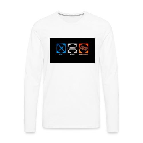 eat_sleep_overclock - Camiseta de manga larga premium hombre