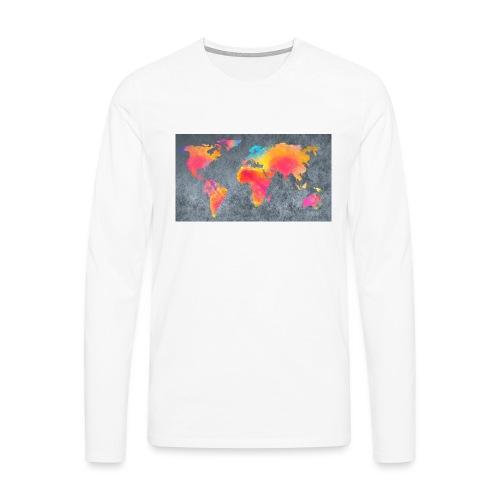 World 3 - Männer Premium Langarmshirt
