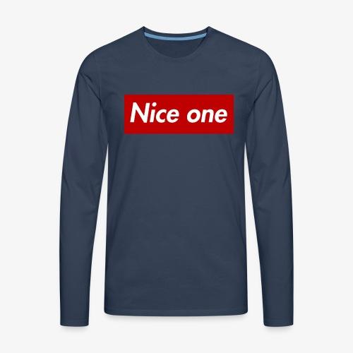Nice one - Männer Premium Langarmshirt
