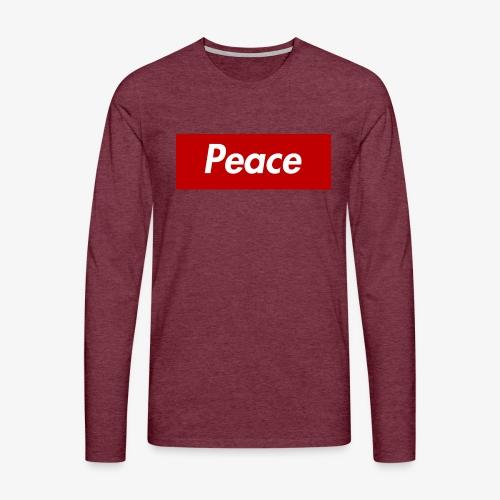 Peace - Männer Premium Langarmshirt