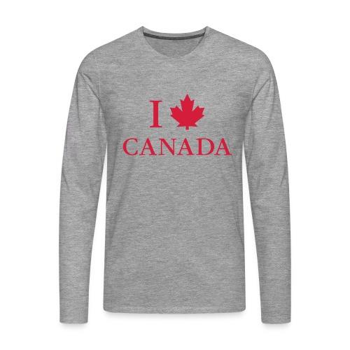 I love Canada Ahornblatt Kanada Vancouver Ottawa - Men's Premium Longsleeve Shirt