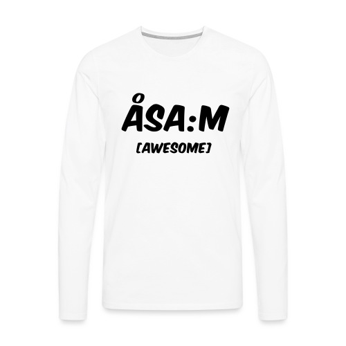 Åsa:m [awesome] - Långärmad premium-T-shirt herr