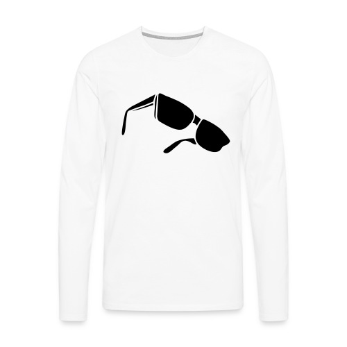 sunglasses dark glasses eighties porn cool sexy - Männer Premium Langarmshirt