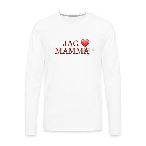 Jag älskar mamma - Långärmad premium-T-shirt herr