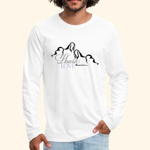 LhasaLove - Miesten premium pitkähihainen t-paita