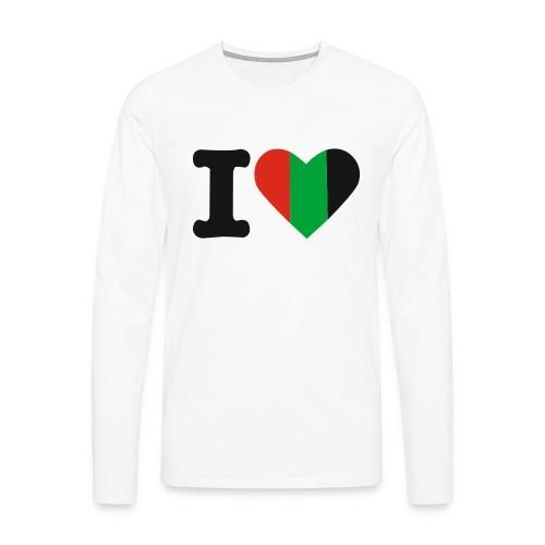 hartjeroodzwartgroen - Mannen Premium shirt met lange mouwen
