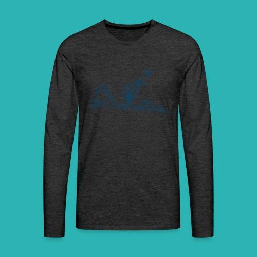 Carta_timone_blu-png - Maglietta Premium a manica lunga da uomo