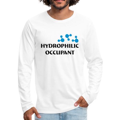 Hydrophilic Occupant (2 colour vector graphic) - Men's Premium Longsleeve Shirt