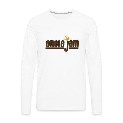 Oncle Jam horizontal brun - T-shirt manches longues Premium Homme