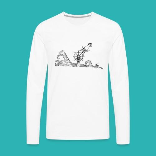 Carta_timone-png - Maglietta Premium a manica lunga da uomo