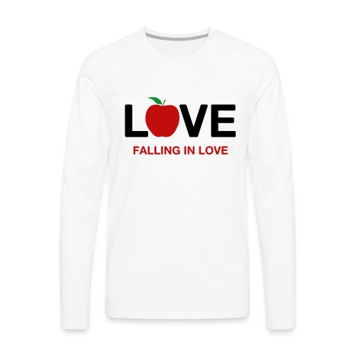 Falling in Love - Black - Men's Premium Longsleeve Shirt