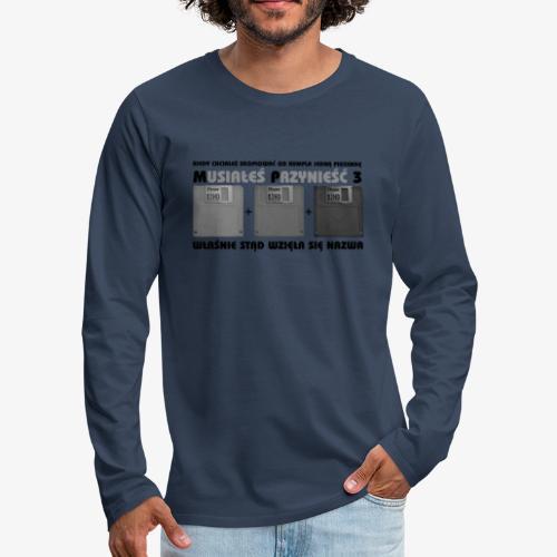 piosenka na dyskietkach - Koszulka męska Premium z długim rękawem