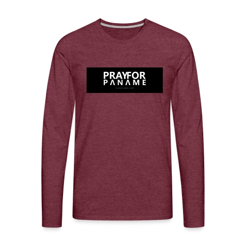 TEE-SHIRT HOMME - PRAY FOR PANAME - T-shirt manches longues Premium Homme