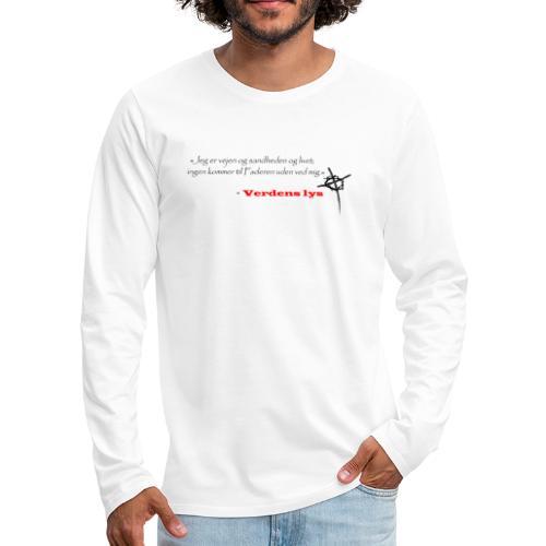 Johs 14:6 mørk - Herre premium T-shirt med lange ærmer