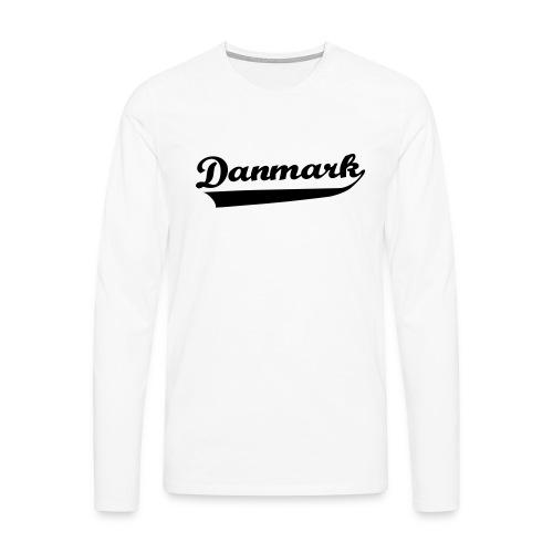 Danmark Swish - Herre premium T-shirt med lange ærmer