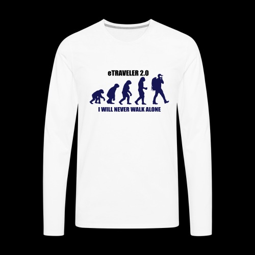 I WILL NEVER WALK ALONE - Men's Premium Longsleeve Shirt