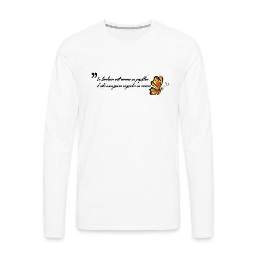 Papillon de bonheur - T-shirt manches longues Premium Homme