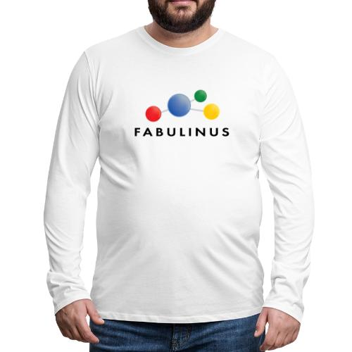 Fabulinus logo dubbelzijdig - Mannen Premium shirt met lange mouwen