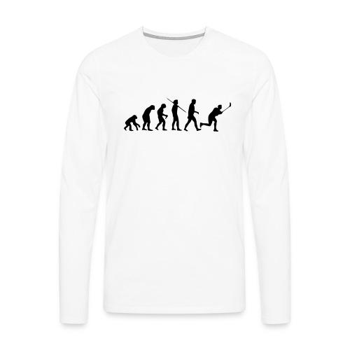 Floorball Evolution Black - Männer Premium Langarmshirt