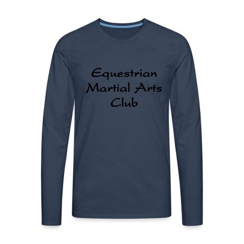 EMAC_logo_teksti - Miesten premium pitkähihainen t-paita
