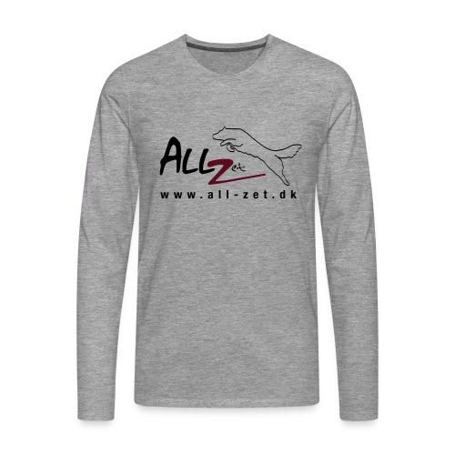 All Zet Logo - Herre premium T-shirt med lange ærmer