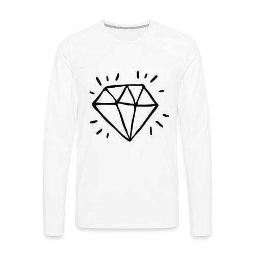 diamant - T-shirt manches longues Premium Homme